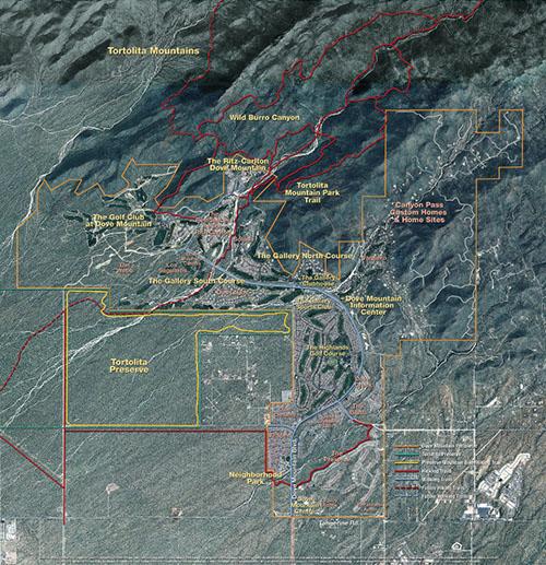 Dove Mountain site plan