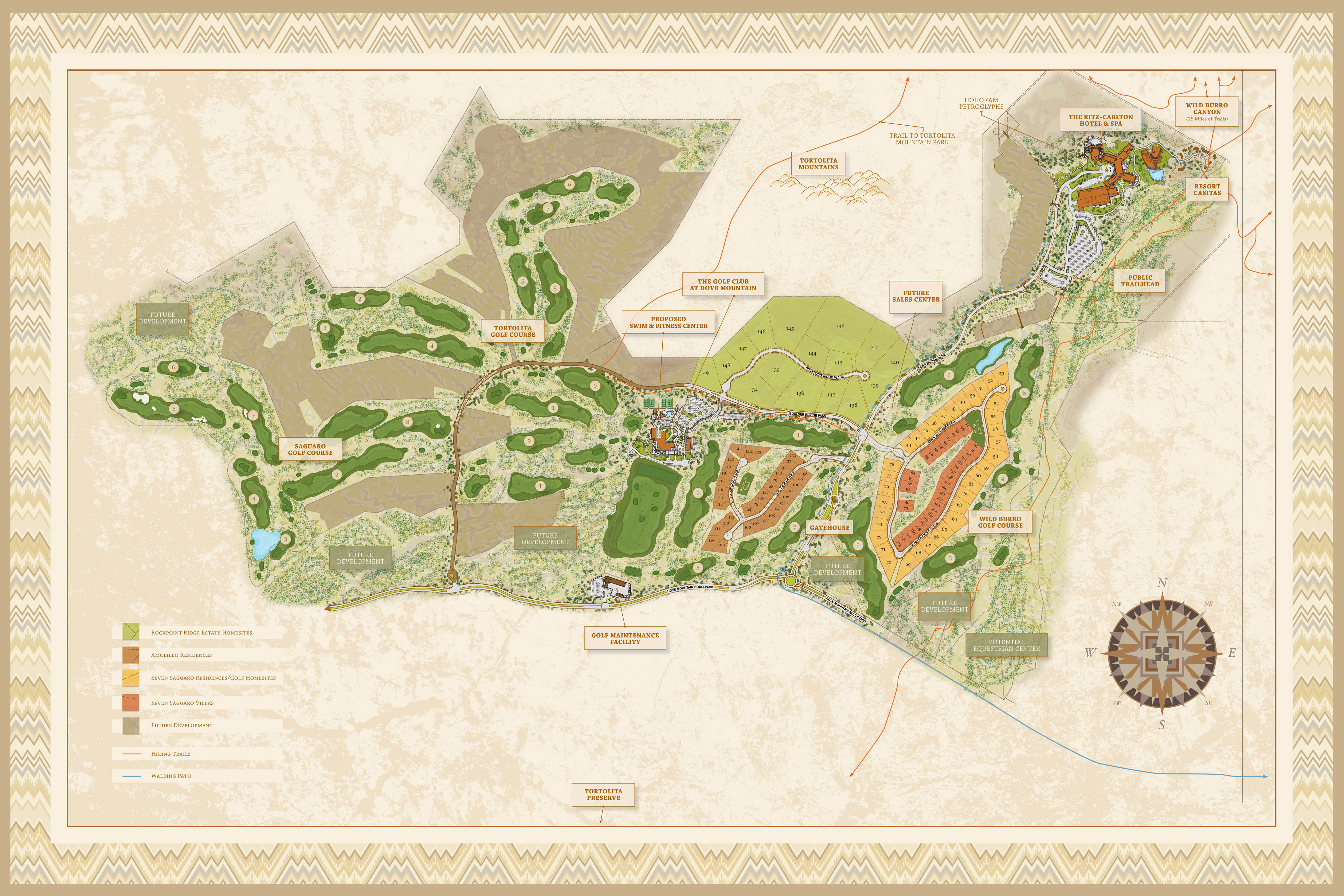 About our luxury homes the residences dove mountain for Mountain plan