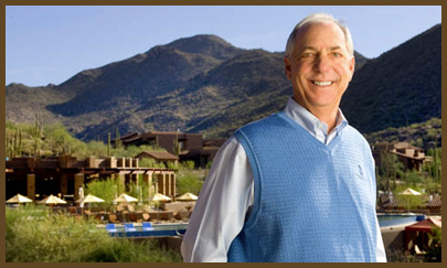 The Ritz-Carlton Residences, Dove Mountain was the dream of famed Tucson developer David Mehl, pictured. Contact us to learn more about real estate in Dove Mountain.