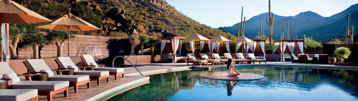 The Spa Pool at The Ritz-Carlton, Dove Mountain Hotel in Marana. As a resident of one of our luxury homes in Dove Mountain, Marana, you can indulge in and revitalize with a variety of health and beauty services here.