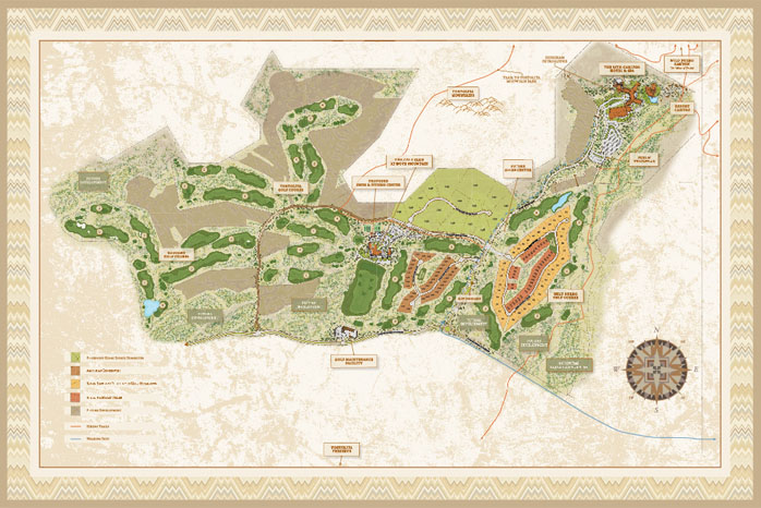 illustrative sitemap of our Dove Mountain homes.