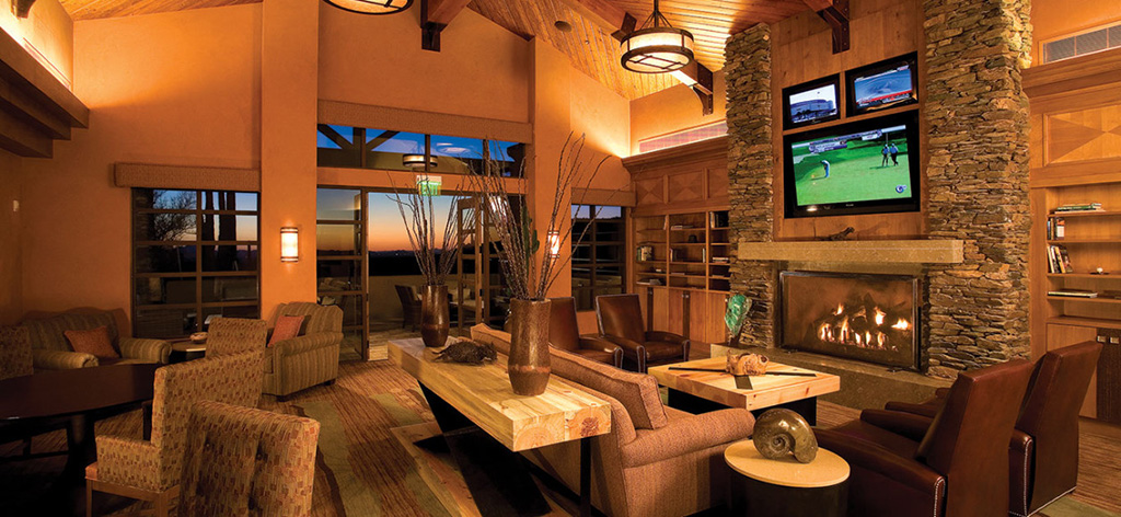 Lounge area at The Ritz-Carlton Hotel, Dove Mountain. Contact us to view our luxury Dove Mountain homes for sale at The Residences.
