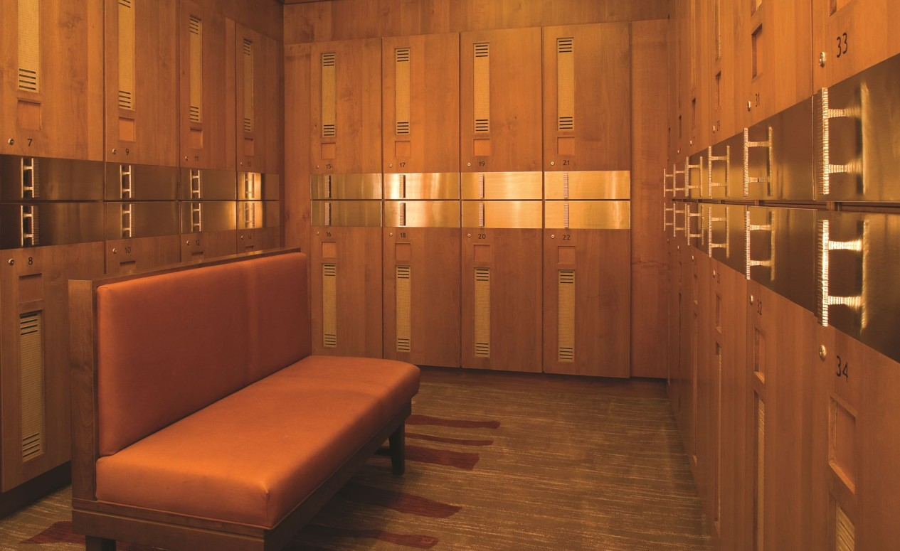 Locker rooms at The Golf Club, just another perk for homeowners of the luxury Dove Mountain homes at The Ritz-Carlton Residences.