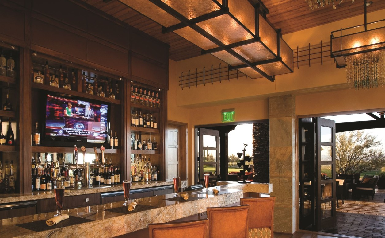 The bar at The Golf Club, just another perk for homeowners of the luxury Dove Mountain homes at The Ritz-Carlton Residences.