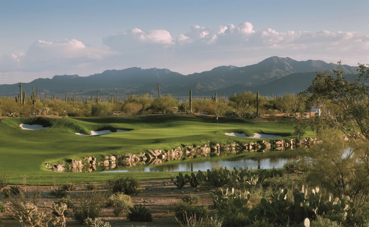 Clear day at the golf course. The Ritz-Carlton Residences at Dove Mountain is not only a great place for the family, but also the serious golfer.