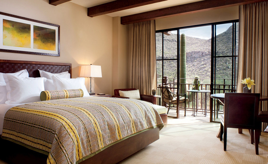 Room accommodations at The Ritz-Carlton Resort, Dove Mountain.