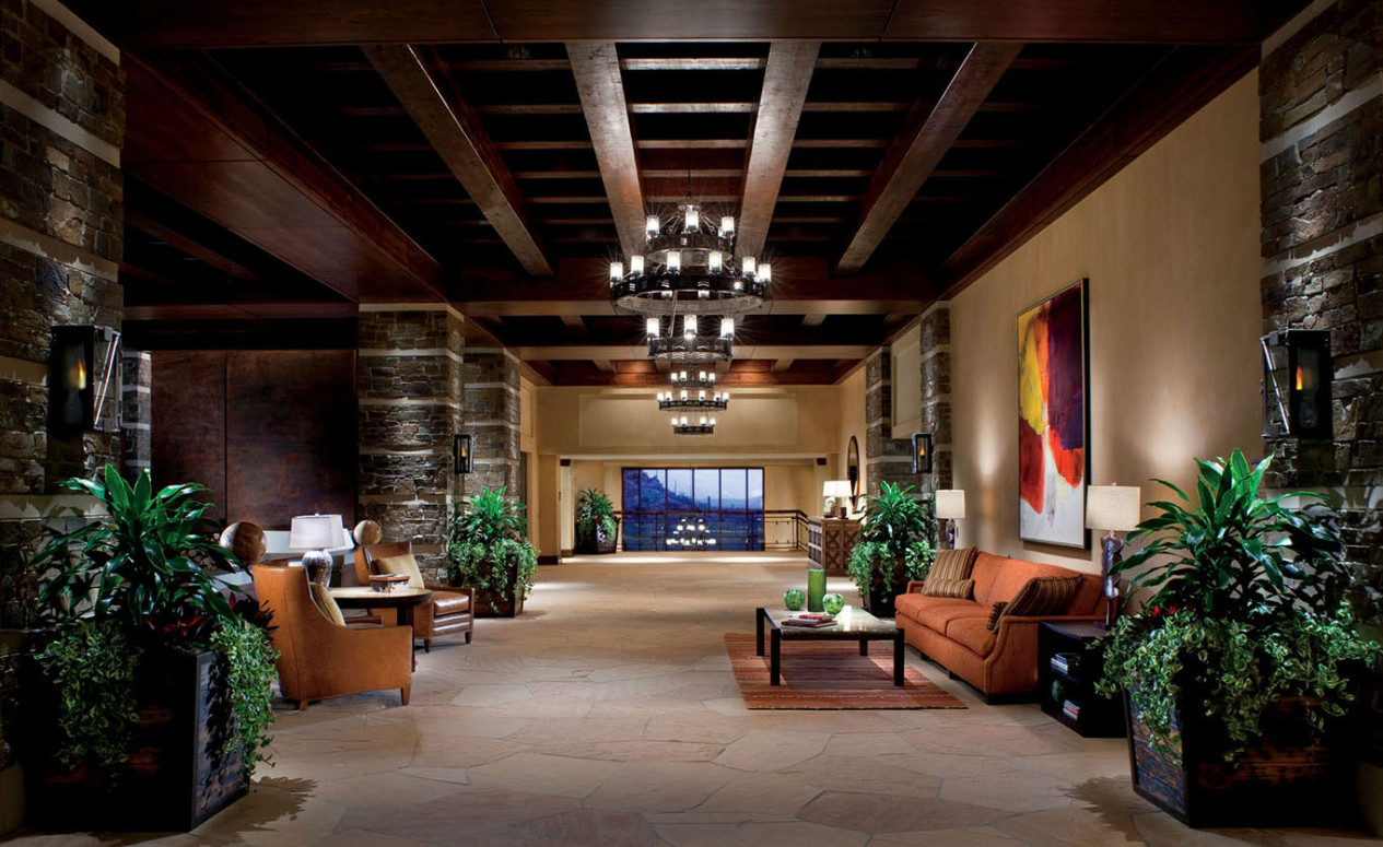 Lobby at The Ritz-Carlton Resort in Dove Mountain. Call now get more info about our luxury Dove Mountain homes at The Ritz-Carlton Residences.