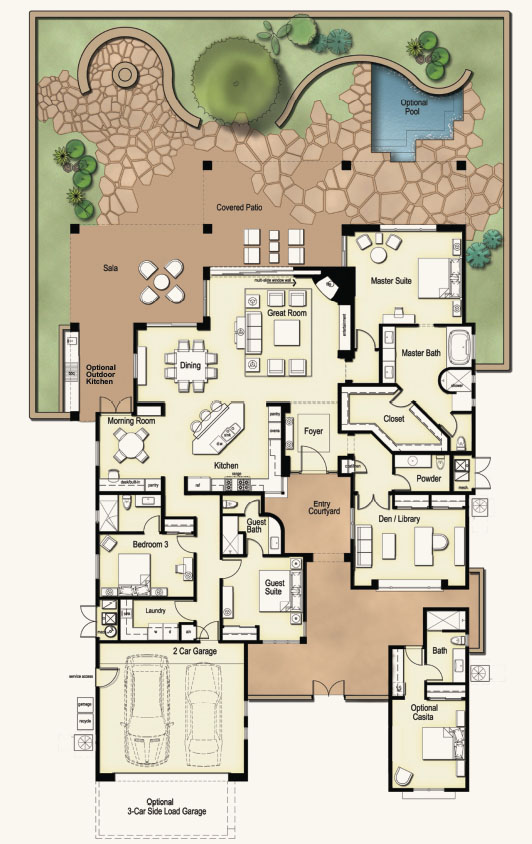 Ranch Floorplan The Ritz Carlton Residences Dove Mountain