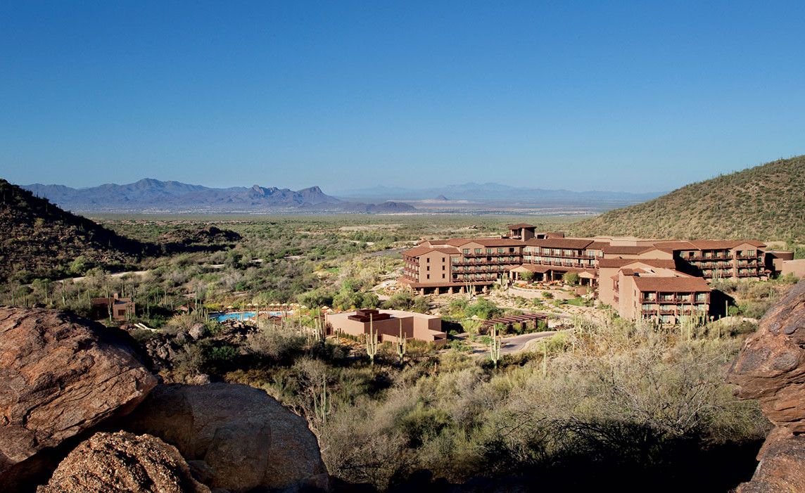 View of The Ritz-Carlton Resort. Contact us to view our luxury Dove Mountain homes for sale.